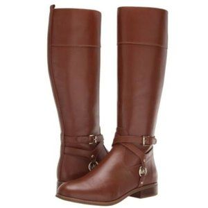 New Michael Kors Preston Riding Chestnut Boot